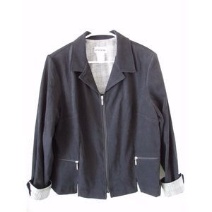 Vintage Black Faux Suede Jacket